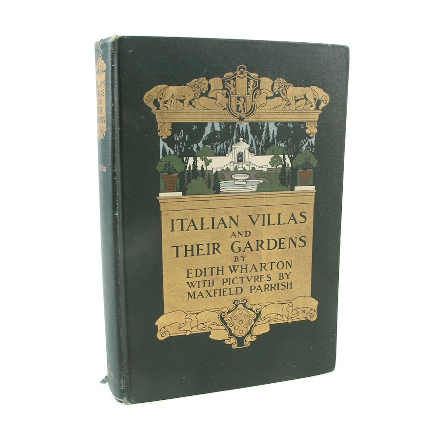 "Maxfield Parrish-Illustrated ""Italian Villas and Their Gardens"" by Edith Wharton"