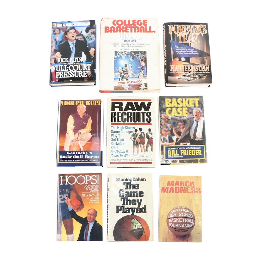 "First Edition ""The Game They Played"" with Additional Basketball Books"