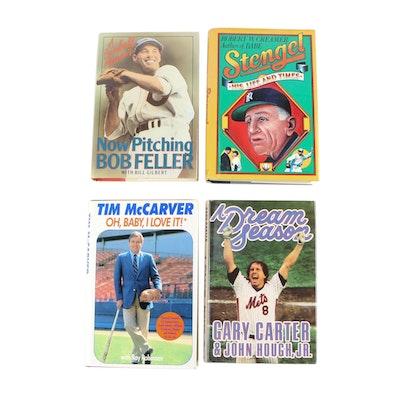 Baseball Biographies featuring Stengel, Feller, McCarver and Carter