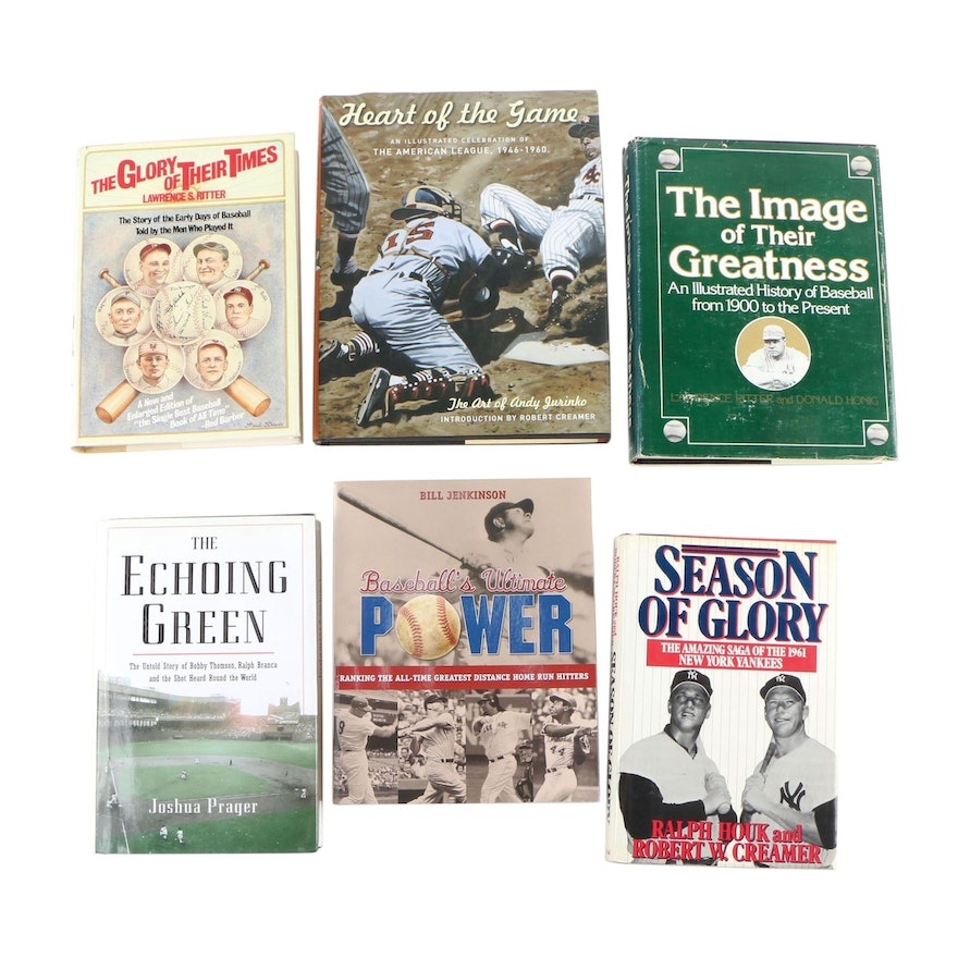 """Heart of the Game"" with Other Baseball Books including First Editions"