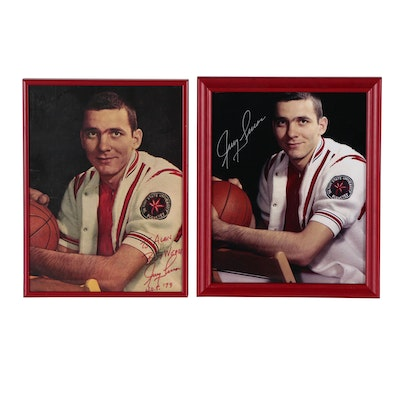 Framed Jerry Lucas Signed Ohio State Pictures