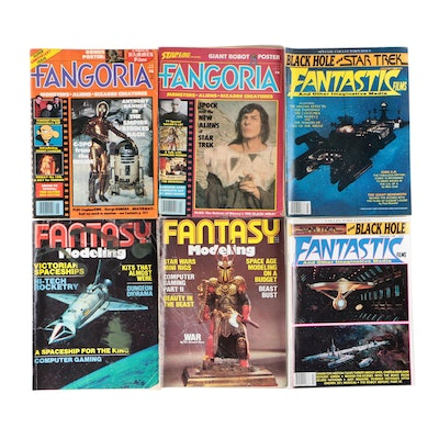 """""""Fangoria"""" and """"Fantasy"""" Science Fiction and Monsters Pulp Culture Magazines"""