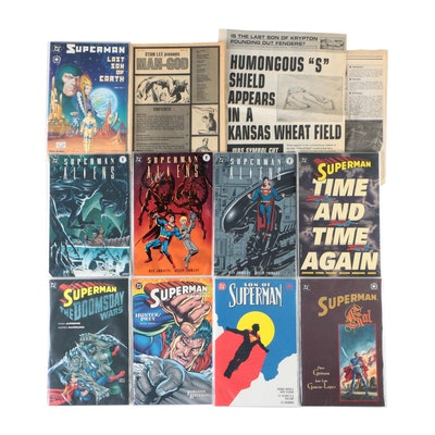 DC and Dark Horse Superman Comic Books and More, Bronze to Modern Age