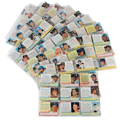 Early 1960s Post and Jello Baseball Cards with Clemente, Mays, Mantle, and More