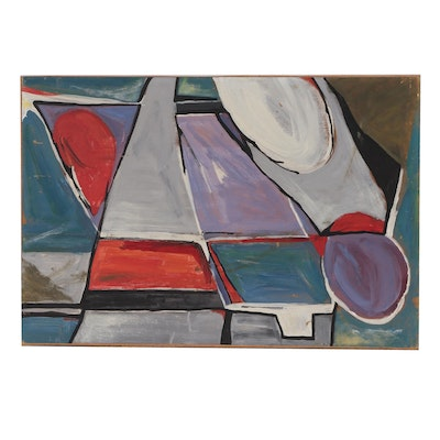 Modernist Style Abstract Acrylic Painting