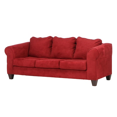 Transitional Style Upholstered Sofa, Contemporary