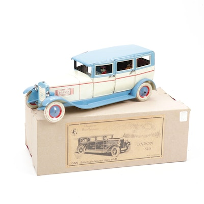 Düsseldorfer Blech-Spielwaren Baron 540 Wind-Up Tin Toy Car
