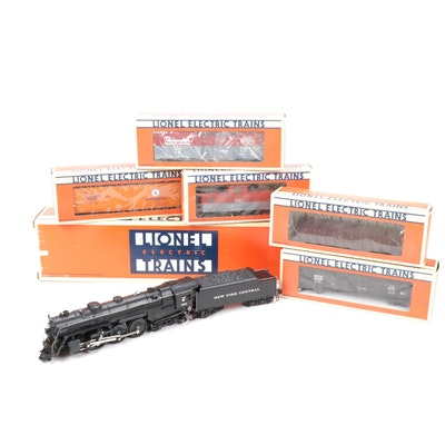 Lionel O Scale NY Central Hudson Locomotive and Tender with Freight Cars