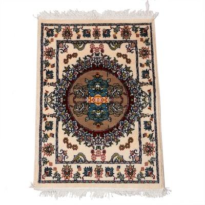 1'8 x 2'7 Power-Loomed Persian Tabriz Art Silk Rug