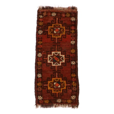 1'3 x 3'1 Hand-Knotted Persian Balouch Rug, 1920s