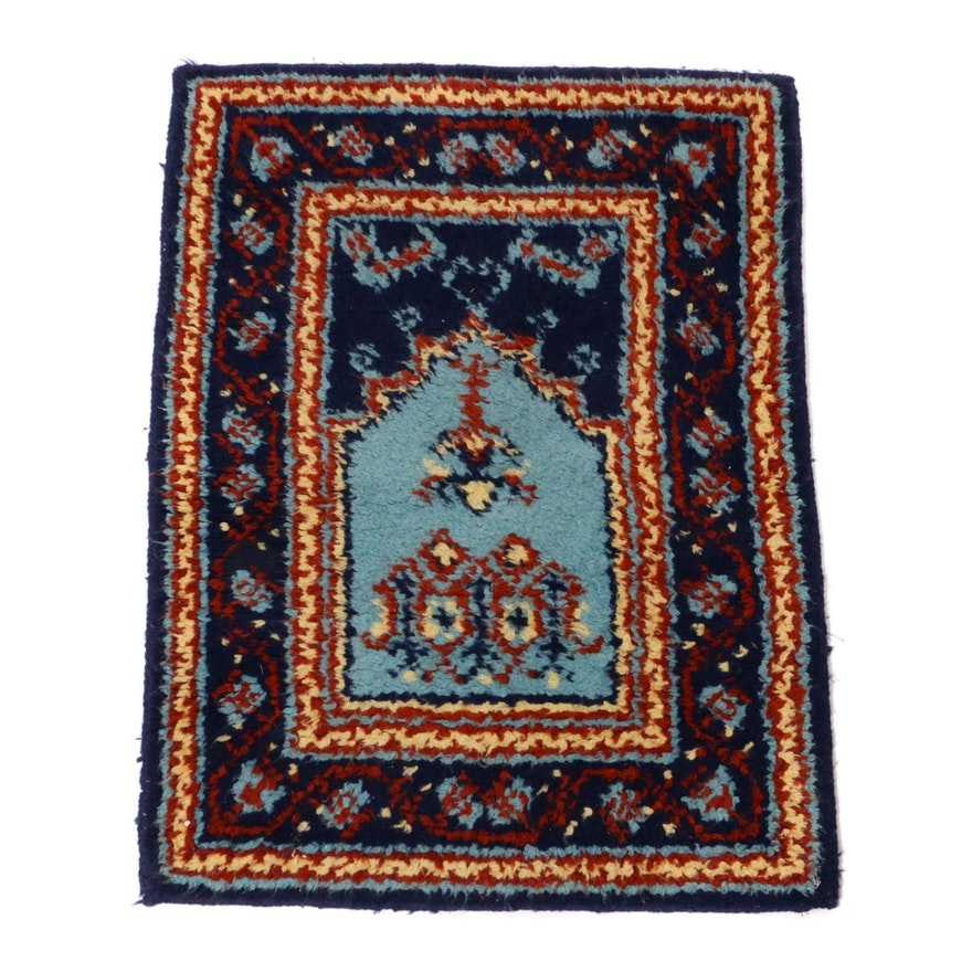 2'4 x 3'0 Hand-Knotted Moroccan Rug, 1970s