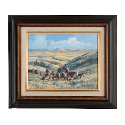 "Robert Thomas Oil Painting ""Up from the Canyon"""