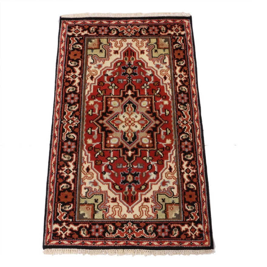 3'0 x 5'2 Hand-Knotted Indo-Persian Heriz Rug, 2010s