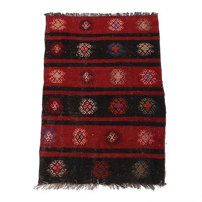 2'7 x 3'11 Hand-Woven Turkish Kilim Rug, 1930s