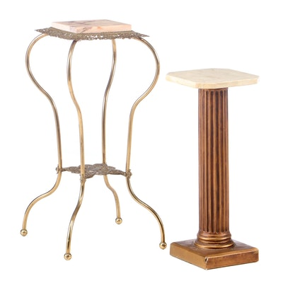 Vintage Marble Top Occasional Tables, Late 20th Century
