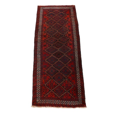 3'0 x 7'5 Hand-Knotted Persian Baluch Runner, 1920s
