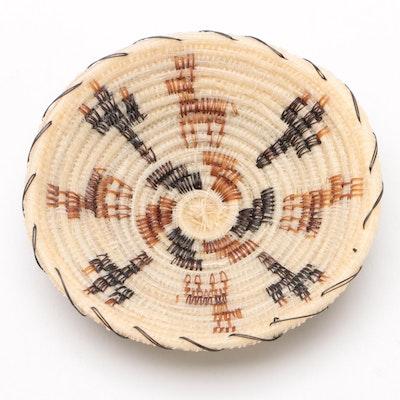 "Adeline Jose Tohono O'odham ""Deer & Cactus"" Horse Hair Basket, 1999"