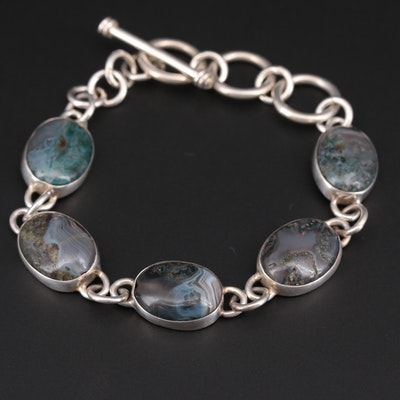 Sterling Silver Agate Bracelet