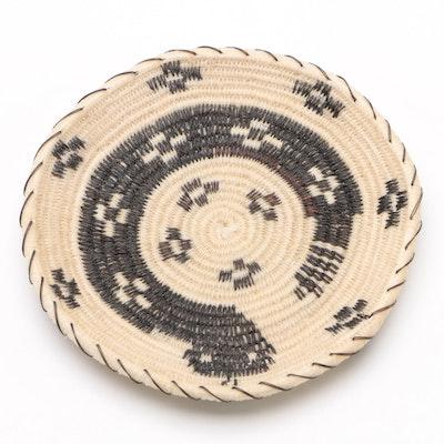"""Southwest """"Coiled Rattlesnake"""" Horse Hair Basket"""
