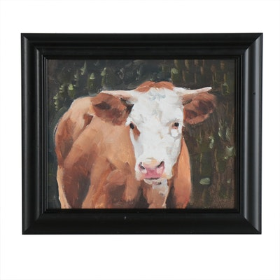 James Coates Oil Painting of Cow