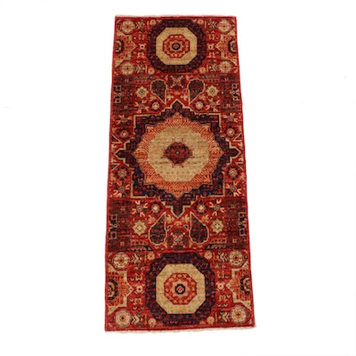 2' x 4.11' Hand-Knotted  Afghani Persian Tabriz Runner, 2010s