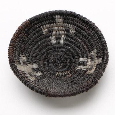 "Lucy Jackson Pima Tribe ""Night"" Horse Hair Basket, 1950"