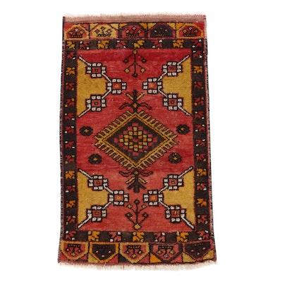 1'9 x 3'2 Hand-Knotted Turkish Village Rug, 1930s