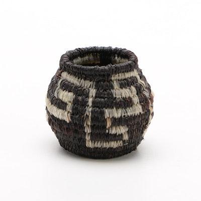 Southwest Horse Hair Miniature Basket
