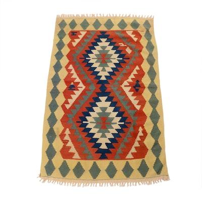 3'8 x 6'0 Handwoven Turkish Village Kilim Rug, 1970s