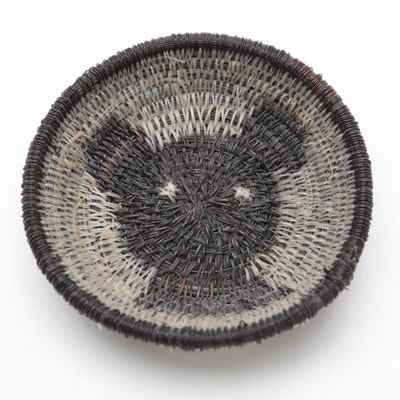 "Lucy Jackson Pima Tribe ""Bear"" Horse Hair Basket, 1950"