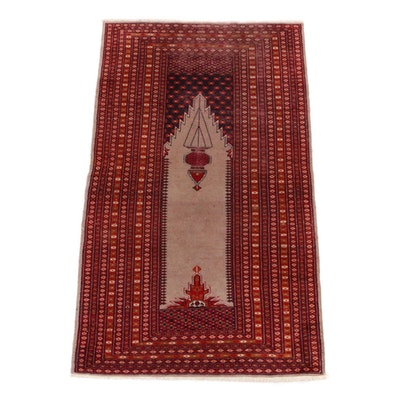 3'0 x 5'1 Hand-Knotted Pakistani Turkish Style Rug, 1990s