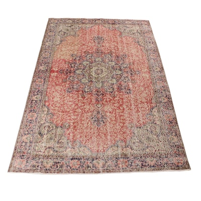 6'6 x 10'3 Hand-Knotted Persian Tabriz Rug, 1960s