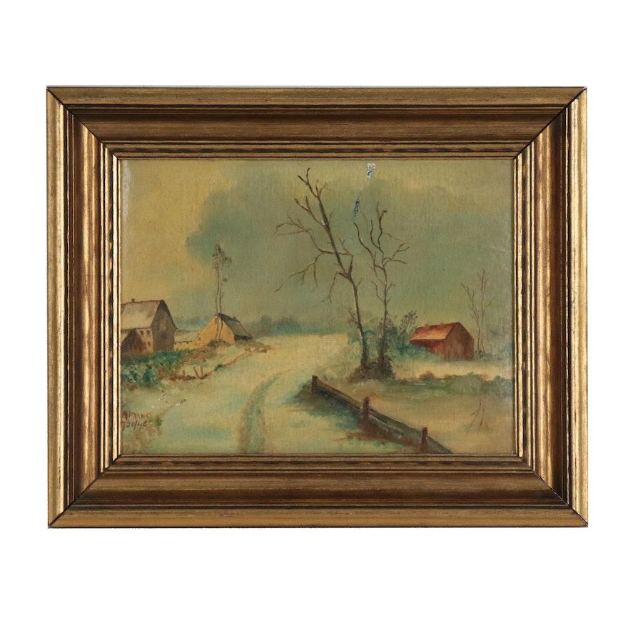 A. Franks Landscape Oil Painting
