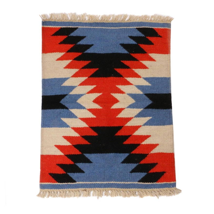 2'6 x 3'6 Hand-Knotted Moroccan Village Rug,1970s