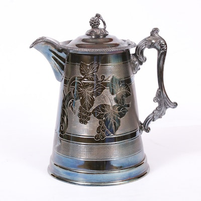 Meriden Britannia Co. Silver Plate Double Walled Water Pitcher, Early 20th C.