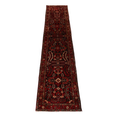 2'11 x 13'7 Hand-Knotted Persian Lilihan Carpet Runner, 1970s