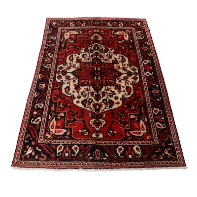 7'1 x 10'5 Hand-Knotted Persian Bakhtiari Rug, 1970s