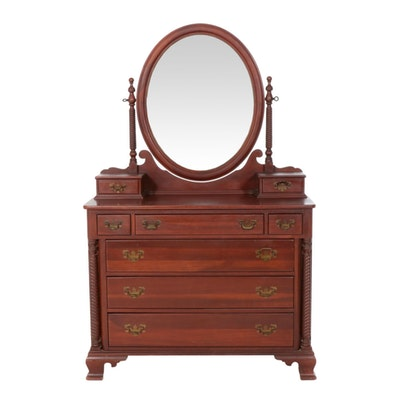 "Consider H. Willett ""Wildwood,"" Federal Style Cherry Dresser, Mid-20th Century"
