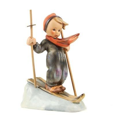 """Hummel """"Skier"""" Porcelain Figurine, 1972–1979"""