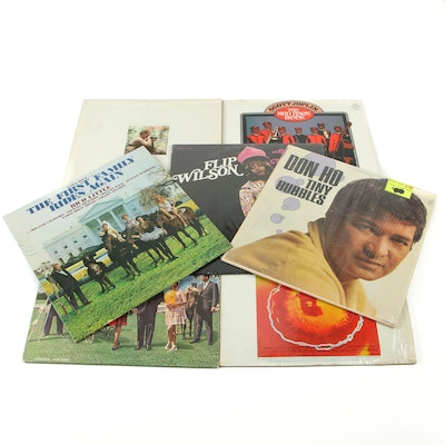 Comedy Records Featuring Bob Booker and Earle Doud and More 33 1/3 RPM Records