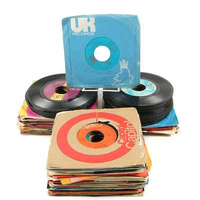 Motown and Other 45 RPM Vinyl Records Including The Jackson 5