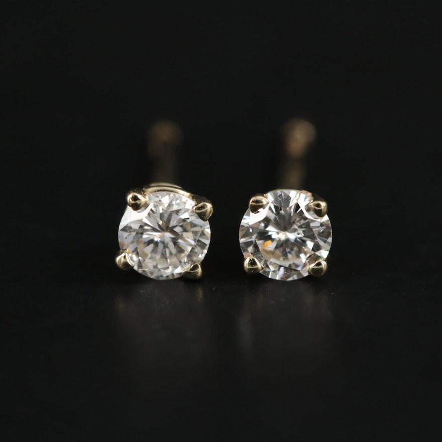 14K Yellow Gold 0.20 CTW Diamond Stud Earrings