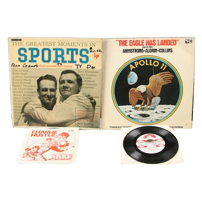 """Sports Records and """"The Eagle has Landed"""" Recording from NASA"""