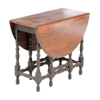 Mahogany Drop Leaf Gate-Leg Table, Early 20th Century