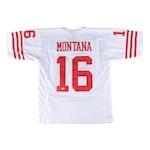 Joe Montana Signed San Fransisco 49er NFL Football Jersey, JSA COA