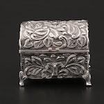 900 Silver Repoussé Trinket Box