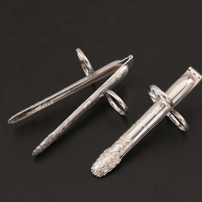 P. S. Co. Silver Plate Individual Asparagus Tongs, Early/Mid 20th Century