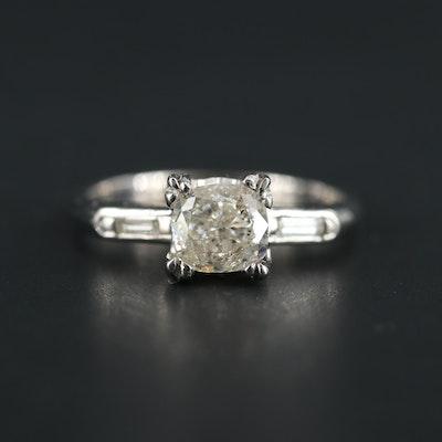 14K White Gold 1.13 CTW Diamond Ring