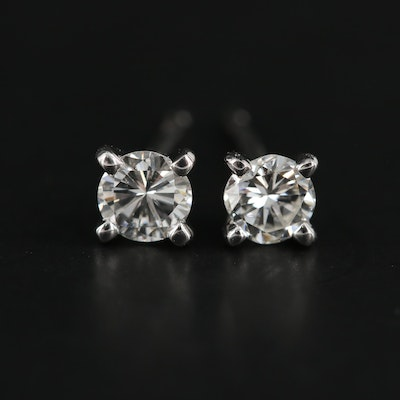 14K White Gold 0.38 CTW Diamond Stud Earrings