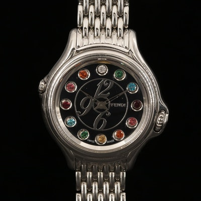 Fendi Crazy Carats Stainless Steel and Diamond Dial Wristwatch, 2014